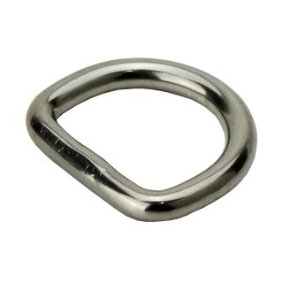 D Ring welded polished stainless steel V4A 4 x 25 mm A4 - V4A