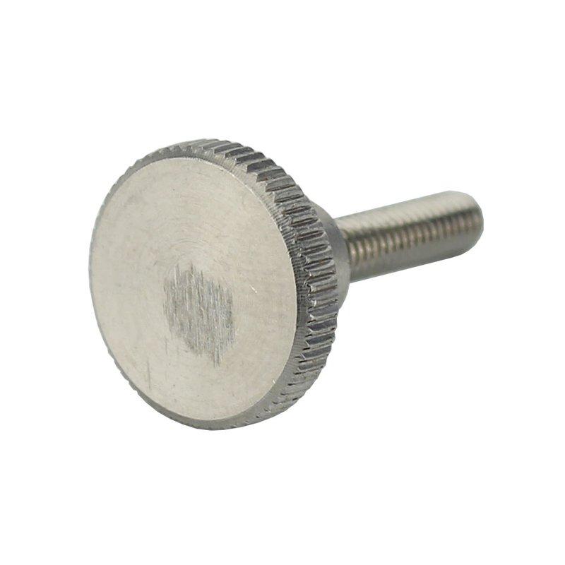 Edelstahl M5x10mm Flache Rändelschraube